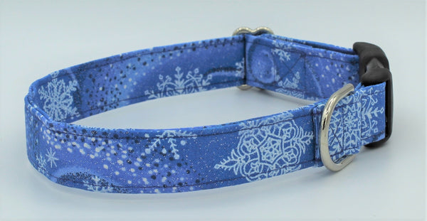 Winter Snowflakes Dog Collar
