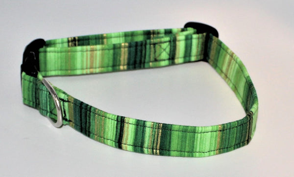 Green and Gold Dog Collar