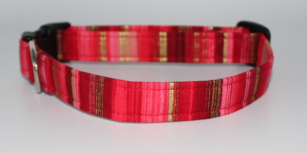 Red and Gold Dog Collar