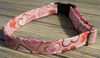 Nothing But Hearts Dog Collar by The Dog Ladies