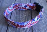 Red, White and Blue Stars Collar