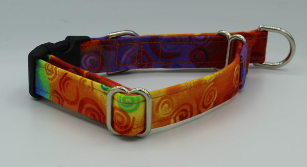 Multi-Colored with Swirls  Limited Slip Collar