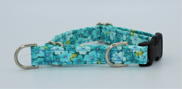 Teal Flowers  Limited Slip Collar