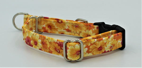 Yellow and Orange Flowers  Limited Slip Collar