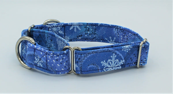 Winter Snowflakes Martingale Dog Collar