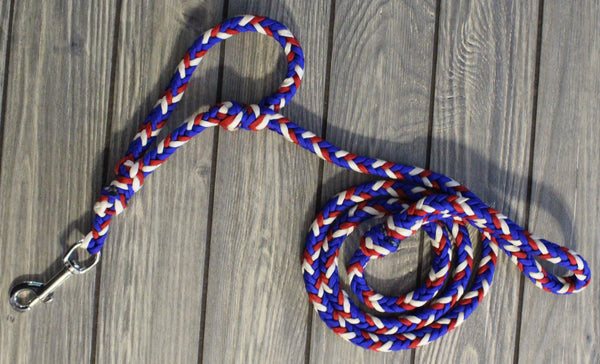 Red, White, Blue Traffic Lead Leash