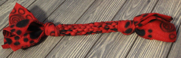 Round Red/Black Print Tug Toy