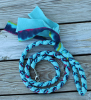 5 Ft Teal Fleece Tug Leash