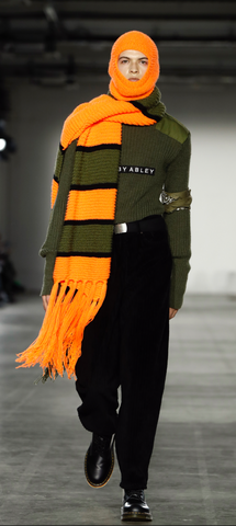 Long scarf with tassels by Bobby Abley