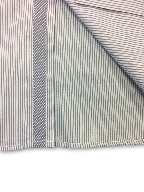 Pal Zileri shirt in white and grey stripe cotton Oxford- khakisurfer.com Latest menswear designer brands added include Eton, Etro, Agave Denim, Pal Zileri, Circle of Gentlemen, Ralph Lauren, Scotch and Soda, Hugo Boss, Armani Jeans, Armani Collezioni.