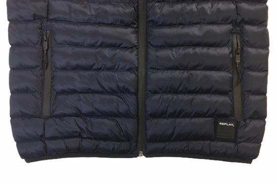 Replay duck free man-made fill padded gilet in navy