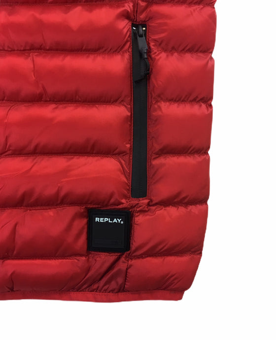 Replay duck free man-made fill padded gilet in red