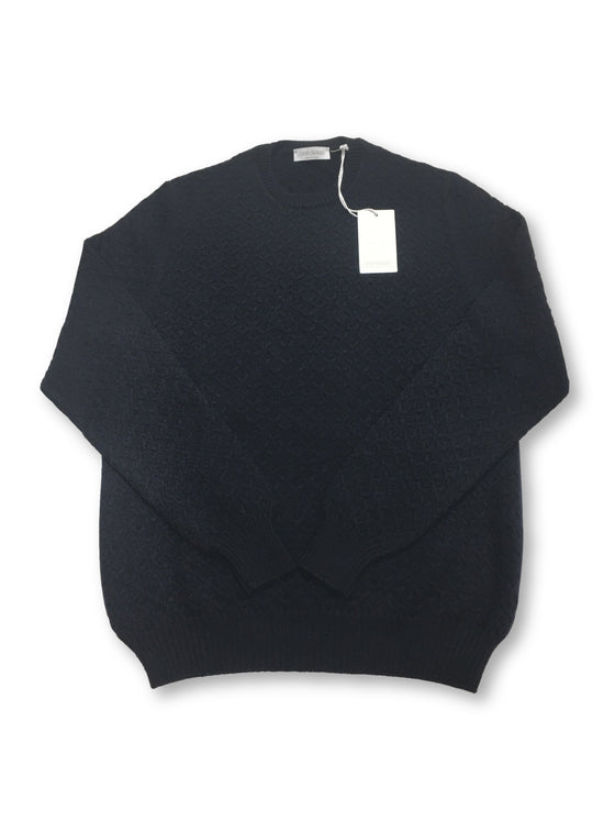 Gran Sasso knitwear in navy stitch pattern