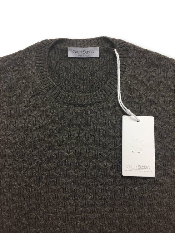 Gran Sasso knitwear in grey stitch pattern