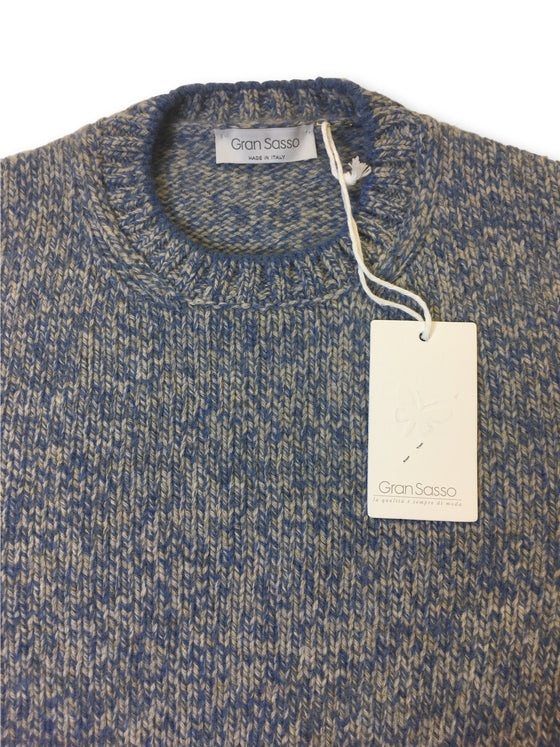 Gran Sasso knitwear in blue and grey marl- khakisurfer.com Latest menswear designer brands added include Eton, Etro, Agave Denim, Pal Zileri, Circle of Gentlemen, Ralph Lauren, Scotch and Soda, Hugo Boss, Armani Jeans, Armani Collezioni.
