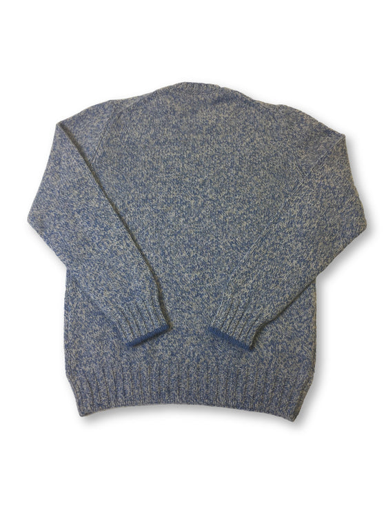 Gran Sasso knitwear in blue and grey marl