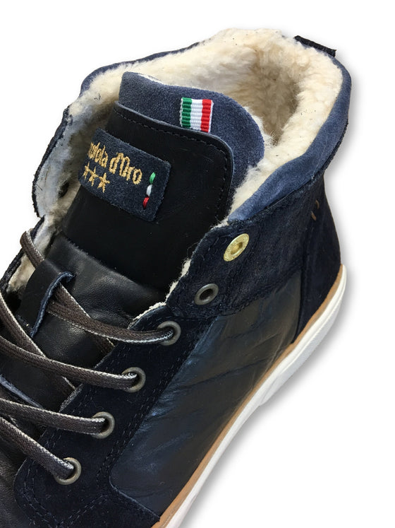 Pantofola d'Oro Benevento mid fur ankle boots in dark navy- khakisurfer.com Latest menswear designer brands added include Eton, Etro, Agave Denim, Pal Zileri, Circle of Gentlemen, Ralph Lauren, Scotch and Soda, Hugo Boss, Armani Jeans, Armani Collezioni.