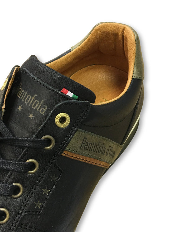 Pantofola d'Oro Roma trainers in black- khakisurfer.com Latest menswear designer brands added include Eton, Etro, Agave Denim, Pal Zileri, Circle of Gentlemen, Ralph Lauren, Scotch and Soda, Hugo Boss, Armani Jeans, Armani Collezioni.