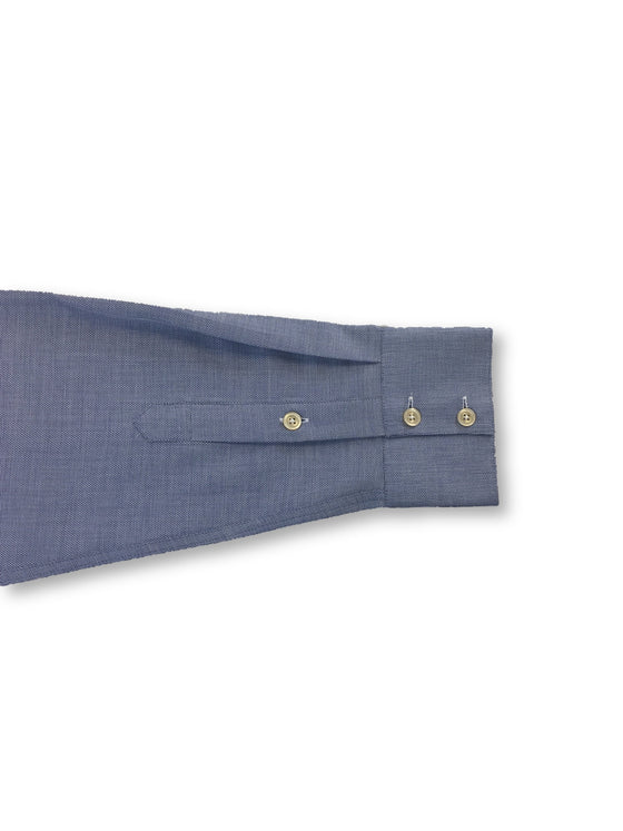 Circle of Gentlemen Maxim cotton shirt in blue subtle micro repeat design- khakisurfer.com Latest menswear designer brands added include Eton, Etro, Agave Denim, Pal Zileri, Circle of Gentlemen, Ralph Lauren, Scotch and Soda, Hugo Boss, Armani Jeans, Armani Collezioni.