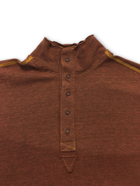 Agave Copper Fault top in brown- khakisurfer.com Latest menswear designer brands added include Eton, Etro, Agave Denim, Pal Zileri, Circle of Gentlemen, Ralph Lauren, Scotch and Soda, Hugo Boss, Armani Jeans, Armani Collezioni.