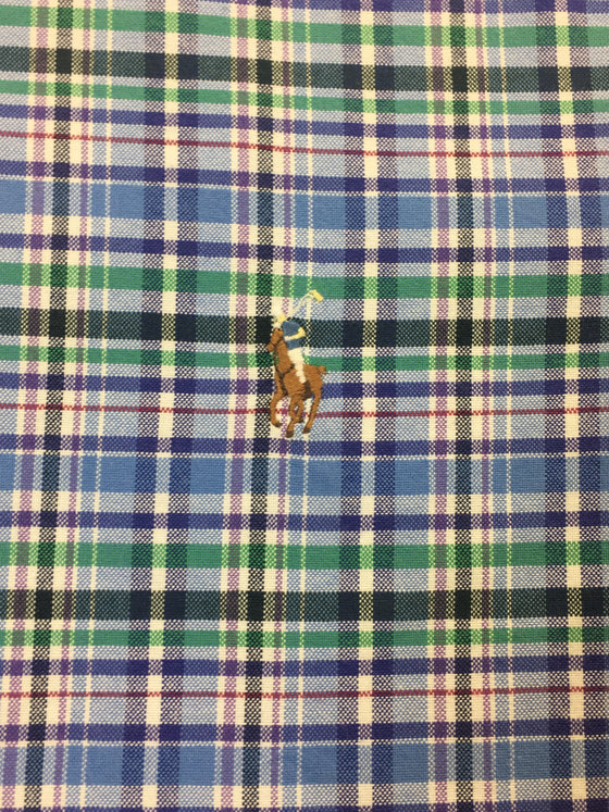 Ralph Lauren slim fit cotton shirt in blue/green/lavender check- khakisurfer.com Latest menswear designer brands added include Eton, Etro, Agave Denim, Pal Zileri, Circle of Gentlemen, Ralph Lauren, Scotch and Soda, Hugo Boss, Armani Jeans, Armani Collezioni.