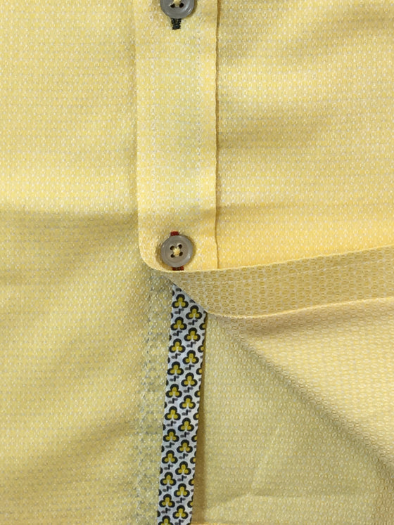 Pure slim fit shirt in yellow subtle repeat pattern- khakisurfer.com Latest menswear designer brands added include Eton, Etro, Agave Denim, Pal Zileri, Circle of Gentlemen, Ralph Lauren, Scotch and Soda, Hugo Boss, Armani Jeans, Armani Collezioni.
