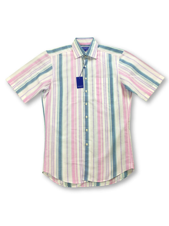 Grosvenor classic fit short sleeve shirt in multi colour- khakisurfer.com Latest menswear designer brands added include Eton, Etro, Agave Denim, Pal Zileri, Circle of Gentlemen, Ralph Lauren, Scotch and Soda, Hugo Boss, Armani Jeans, Armani Collezioni.