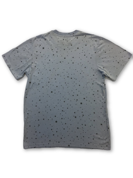 Hey Billy Stars T-shirt in blue- khakisurfer.com Latest menswear designer brands added include Eton, Etro, Agave Denim, Pal Zileri, Circle of Gentlemen, Ralph Lauren, Scotch and Soda, Hugo Boss, Armani Jeans, Armani Collezioni.
