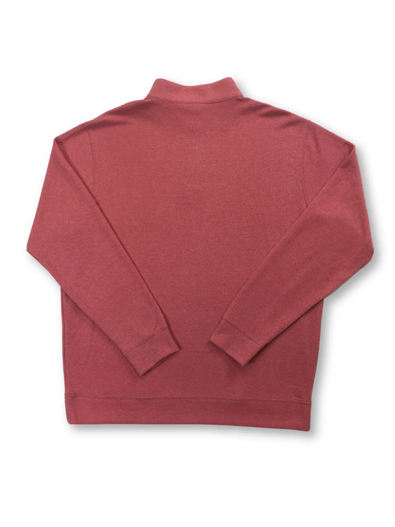 Peter Millar knitwear melange fleece in Firethorn pink