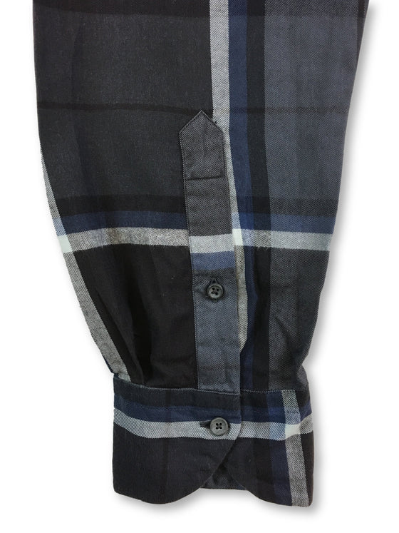 Xacus Thomas Mason shirt in navy/blue/grey check- khakisurfer.com Latest menswear designer brands added include Eton, Etro, Agave Denim, Pal Zileri, Circle of Gentlemen, Ralph Lauren, Scotch and Soda, Hugo Boss, Armani Jeans, Armani Collezioni.