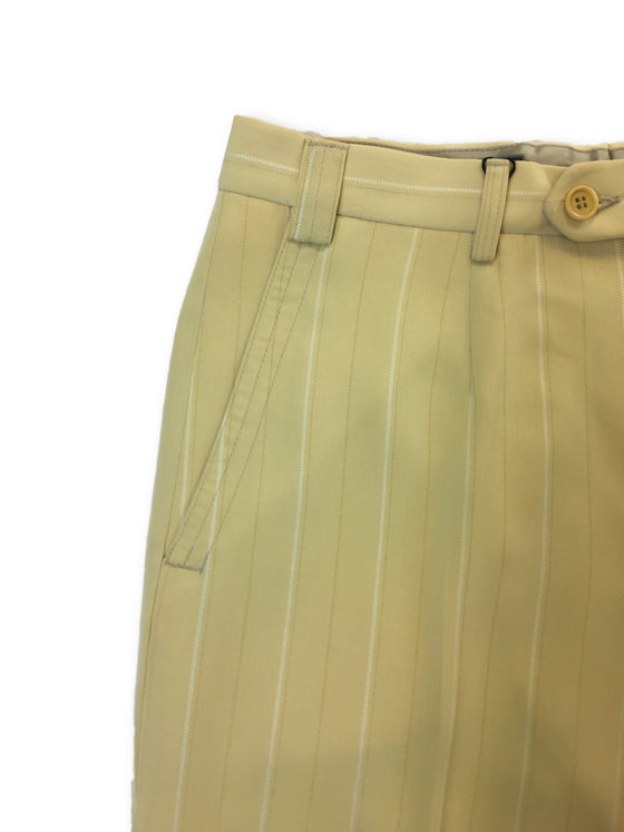 Messori trousers in banana yellow with vertical stripes-khakisurfer.com