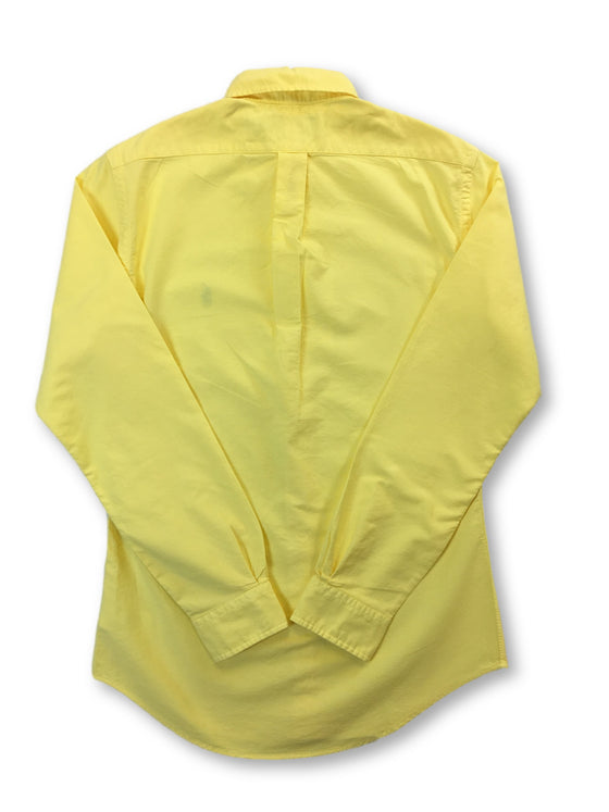 Ralph Lauren slim fit cotton casual shirt in yellow with blue logo- khakisurfer.com Latest menswear designer brands added include Eton, Etro, Agave Denim, Pal Zileri, Circle of Gentlemen, Ralph Lauren, Scotch and Soda, Hugo Boss, Armani Jeans, Armani Collezioni.