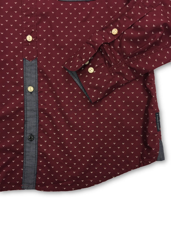 Armani Jeans Burgundy long sleeved shirt- khakisurfer.com Latest menswear designer brands added include Eton, Etro, Agave Denim, Pal Zileri, Circle of Gentlemen, Ralph Lauren, Scotch and Soda, Hugo Boss, Armani Jeans, Armani Collezioni.