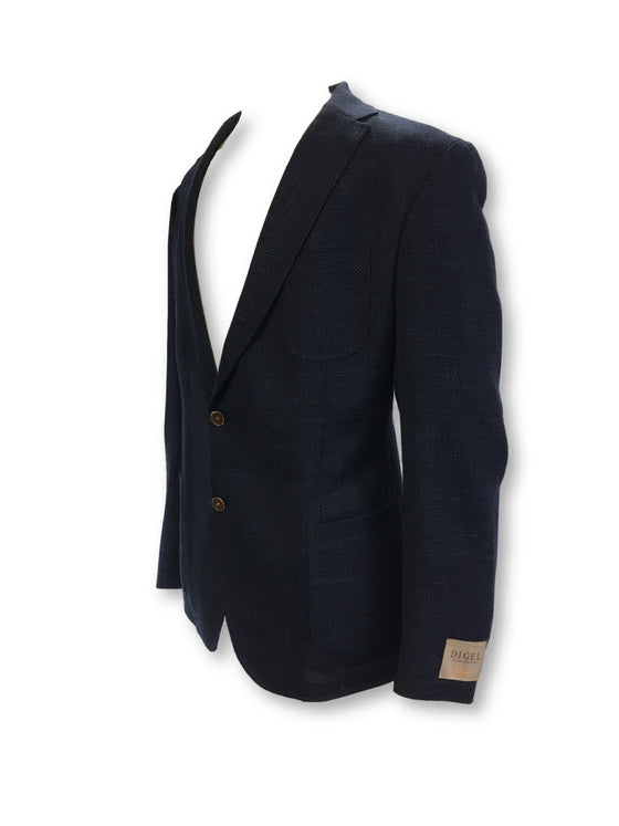 Digel Enrico jacket in navy with blue fleck
