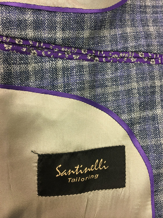 Santinelli Jacket in blue- khakisurfer.com Latest menswear designer brands added include Eton, Etro, Agave Denim, Pal Zileri, Circle of Gentlemen, Ralph Lauren, Scotch and Soda, Hugo Boss, Armani Jeans, Armani Collezioni.