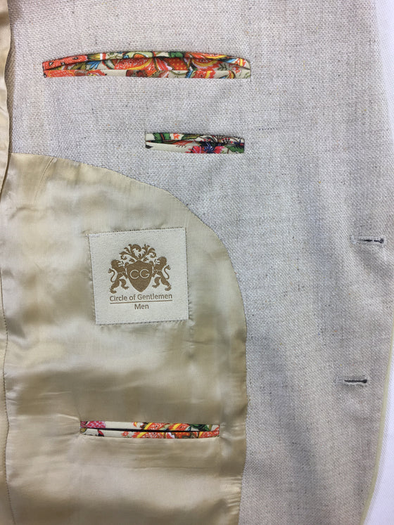 Circle of Gentlemen Harley slim fit jacket in cream/beige- khakisurfer.com Latest menswear designer brands added include Eton, Etro, Agave Denim, Pal Zileri, Circle of Gentlemen, Ralph Lauren, Scotch and Soda, Hugo Boss, Armani Jeans, Armani Collezioni.