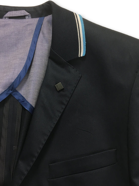 Lagerfeld semi-structured jacket in blue- khakisurfer.com Latest menswear designer brands added include Eton, Etro, Agave Denim, Pal Zileri, Circle of Gentlemen, Ralph Lauren, Scotch and Soda, Hugo Boss, Armani Jeans, Armani Collezioni.