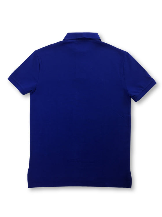 Ralph Lauren Polo cotton polo shirt in blue with light blue logo- khakisurfer.com Latest menswear designer brands added include Eton, Etro, Agave Denim, Pal Zileri, Circle of Gentlemen, Ralph Lauren, Scotch and Soda, Hugo Boss, Armani Jeans, Armani Collezioni.