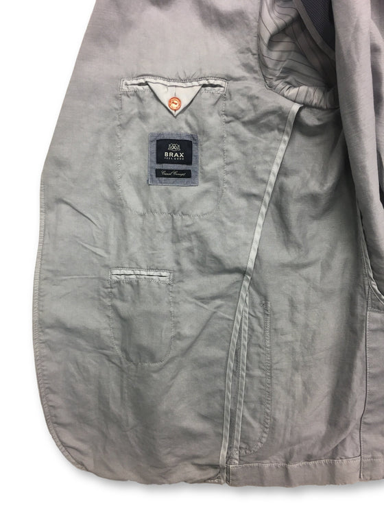 Brax casual concept unstructured jacket in light grey- khakisurfer.com Latest menswear designer brands added include Eton, Etro, Agave Denim, Pal Zileri, Circle of Gentlemen, Ralph Lauren, Scotch and Soda, Hugo Boss, Armani Jeans, Armani Collezioni.