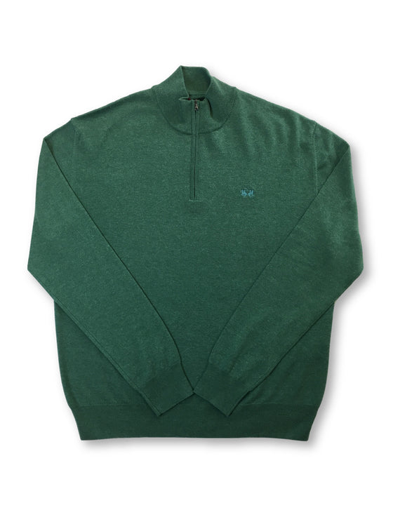 La Martina half zip knitwear in green wool/cotton/acrylic mix- khakisurfer.com Latest menswear designer brands added include Eton, Etro, Agave Denim, Pal Zileri, Circle of Gentlemen, Ralph Lauren, Scotch and Soda, Hugo Boss, Armani Jeans, Armani Collezioni.