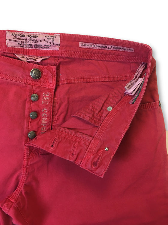 Jacob Cohen jeans in raspberry pink