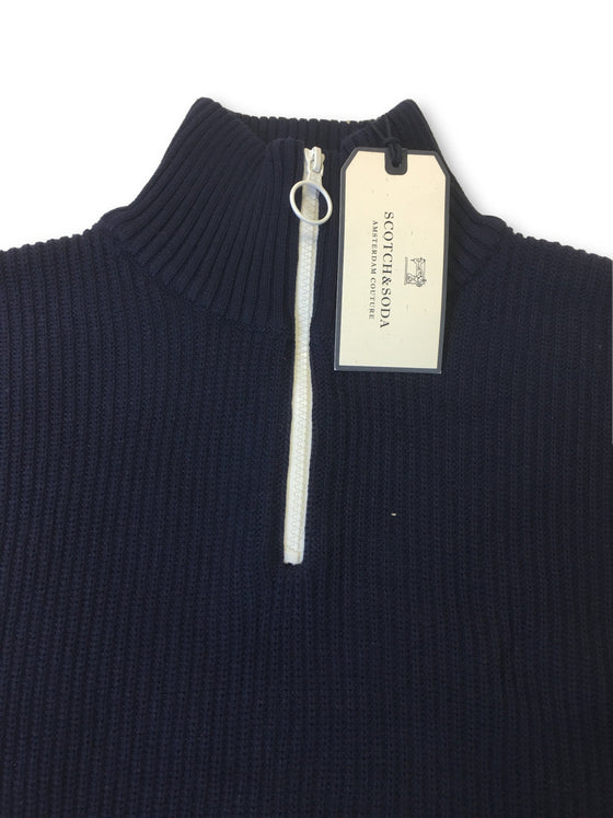 Scotch & Soda knitwear in navy rib