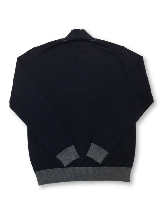 Florentino slim fit wool knitted cardigan in navy- khakisurfer.com Latest menswear designer brands added include Eton, Etro, Agave Denim, Pal Zileri, Circle of Gentlemen, Ralph Lauren, Scotch and Soda, Hugo Boss, Armani Jeans, Armani Collezioni.