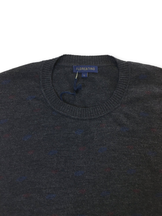 Florentino slim fit knitwear in charcoal with subtle contrast spots- khakisurfer.com Latest menswear designer brands added include Eton, Etro, Agave Denim, Pal Zileri, Circle of Gentlemen, Ralph Lauren, Scotch and Soda, Hugo Boss, Armani Jeans, Armani Collezioni.