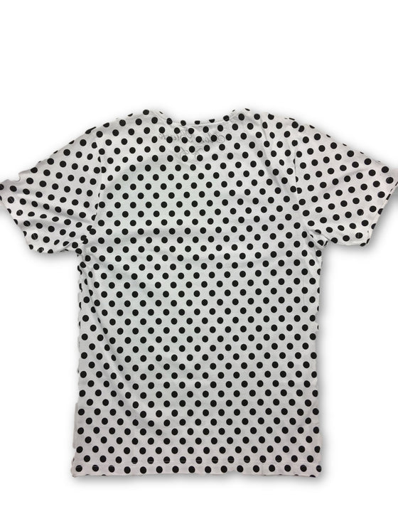 Aon Black Limited Edition T-Shirt in white with spots- khakisurfer.com Latest menswear designer brands added include Eton, Etro, Agave Denim, Pal Zileri, Circle of Gentlemen, Ralph Lauren, Scotch and Soda, Hugo Boss, Armani Jeans, Armani Collezioni.