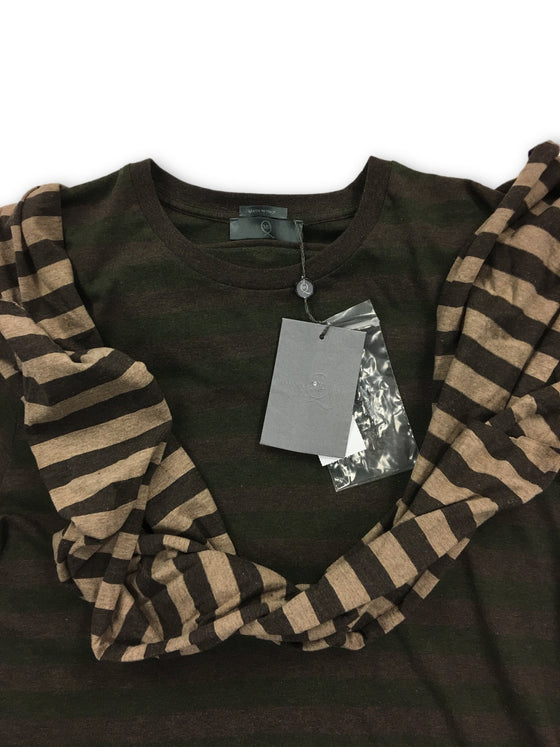 Alexander McQueen T-Shirt in brown with attached scarf- khakisurfer.com Latest menswear designer brands added include Eton, Etro, Agave Denim, Pal Zileri, Circle of Gentlemen, Ralph Lauren, Scotch and Soda, Hugo Boss, Armani Jeans, Armani Collezioni.