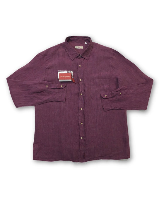 Luciano Barbera woven linen shirt in purple- khakisurfer.com Latest menswear designer brands added include Eton, Etro, Agave Denim, Pal Zileri, Circle of Gentlemen, Ralph Lauren, Scotch and Soda, Hugo Boss, Armani Jeans, Armani Collezioni.