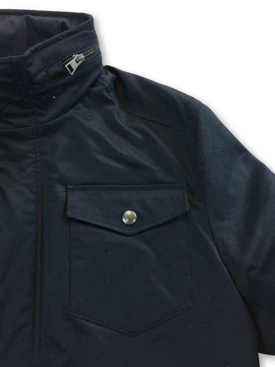 Gant The Four Pocket City jacket in navy with concealed hood- khakisurfer.com Latest menswear designer brands added include Eton, Etro, Agave Denim, Pal Zileri, Circle of Gentlemen, Ralph Lauren, Scotch and Soda, Hugo Boss, Armani Jeans, Armani Collezioni.