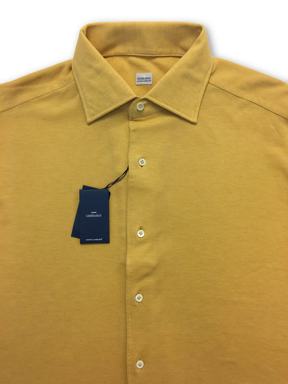 Alessandro Gherardi pique shirt in yellow- khakisurfer.com Latest menswear designer brands added include Eton, Etro, Agave Denim, Pal Zileri, Circle of Gentlemen, Ralph Lauren, Scotch and Soda, Hugo Boss, Armani Jeans, Armani Collezioni.
