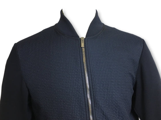 Armani Collezioni waffle textured bomber jacket in navy/blue- khakisurfer.com Latest menswear designer brands added include Eton, Etro, Agave Denim, Pal Zileri, Circle of Gentlemen, Ralph Lauren, Scotch and Soda, Hugo Boss, Armani Jeans, Armani Collezioni.